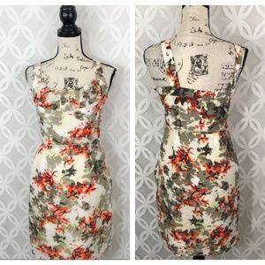 Banana Republic Silk Blend Floral High Waist Dress